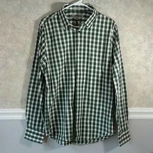 EXPRESS | Men's Plaid Fitted Dress Shirt Sz M